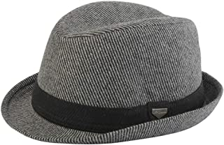 Autumn and Winter Fedora Hat Wool Hat Men's Panama Hat Female Warm Hat WUXiaodanfhat (Color : Gray, Size : 56-59cm)