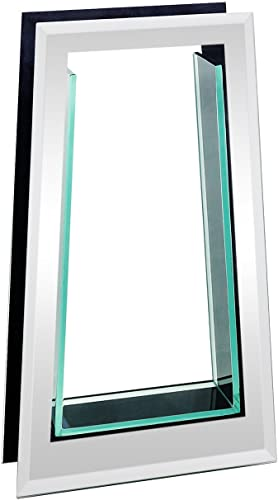 """2021 Flower Glass high quality Vase Decorative Centerpiece for Home or Wedding by Royal outlet online sale Imports - Tall Tapered Mirror Trim Plate Glass, (8"""" W, 2"""" Opening) 13.5"""" Tall online"""