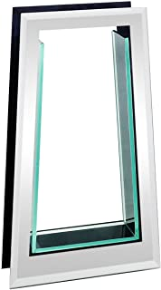 Royal Imports Flower Glass Vase Decorative Centerpiece for Home or Wedding Tall Tapered Mirror Trim Plate Glass, (8