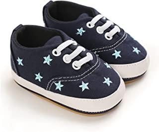 Baby Boys Girls Classic Casual Canvas Shoes Toddler Soft Sole Anti-Slip Shoes Newborn First Walkers (Color : A2, Size : 6-...