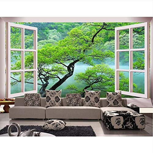 Meaosy 3D kamer behang op maat foto niet-geweven behang muurschildering ramen schoonheid Scenery foto tv bank achtergrond behang voor muur 3D 120x100cm