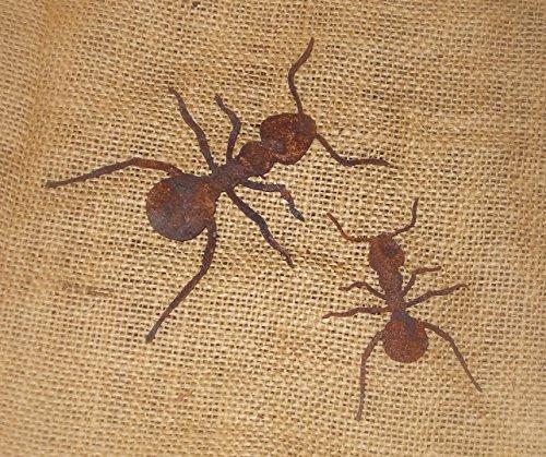 Ameisen aus Metall mit Rostfinish 2er-Set
