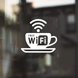 Vinyl Wall Art Decal - Free WiFi Sign - 5.5