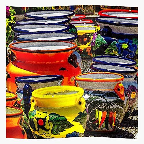 Ocean New Southwest Mexico Pottery Talavera das Beste und neueste Plakat für Wandkunst Wohnkultur Zimmer