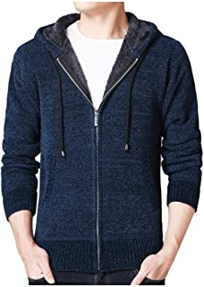 3XL 2019 Winter Jackets for Men Fashion Zip Warm Long Sleeve Patchwork Tops Thermal Coats Slim Casual Sweaters Outwear