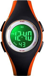 Kids Digital Watch, Boys Sports Waterproof Led Watches Kids Watches with Alarm Wrist Watches for Boy Girls Children Orange