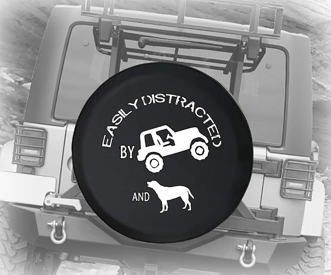 556 Max 75% OFF Gear Easily Distracted by SUV fits and Dogs Free Shipping Cheap Bargain Gift Paw Print an