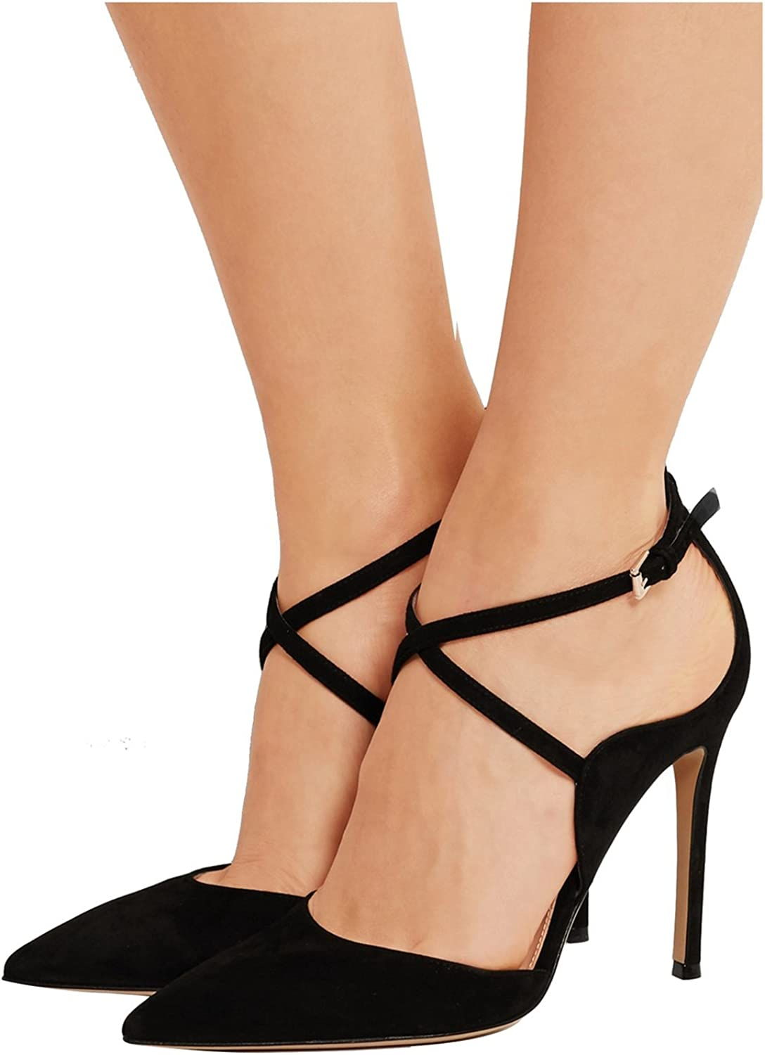 Kevin Fashion KLSDN199 Women's Pointed Toe Suede Club Party Evening Pumps shoes