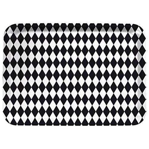 Aramis Bandeja fibra 40,2x29 rombos negro