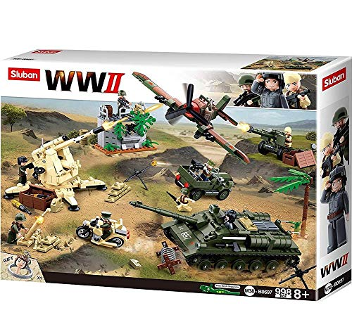 Sluban M38-B0697 WWII-Battle of Kursk 998PCS, Multi Color