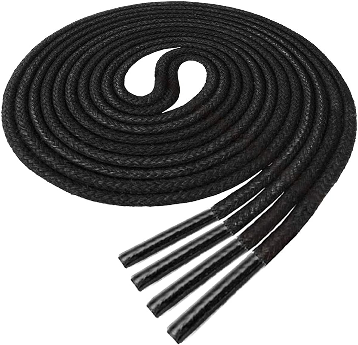 Waxed Thin Round Dress Shoelaces [2 Pairs] [5 Color][6 Size] for Oxford Dress Shoes Laces : Clothing, Shoes & Jewelry
