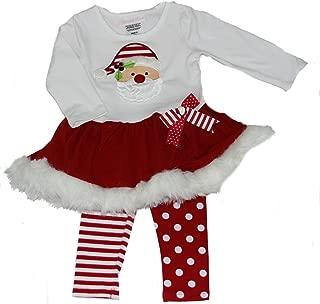 Bonnie Baby-girls Santa Face Dress and Leggings Set