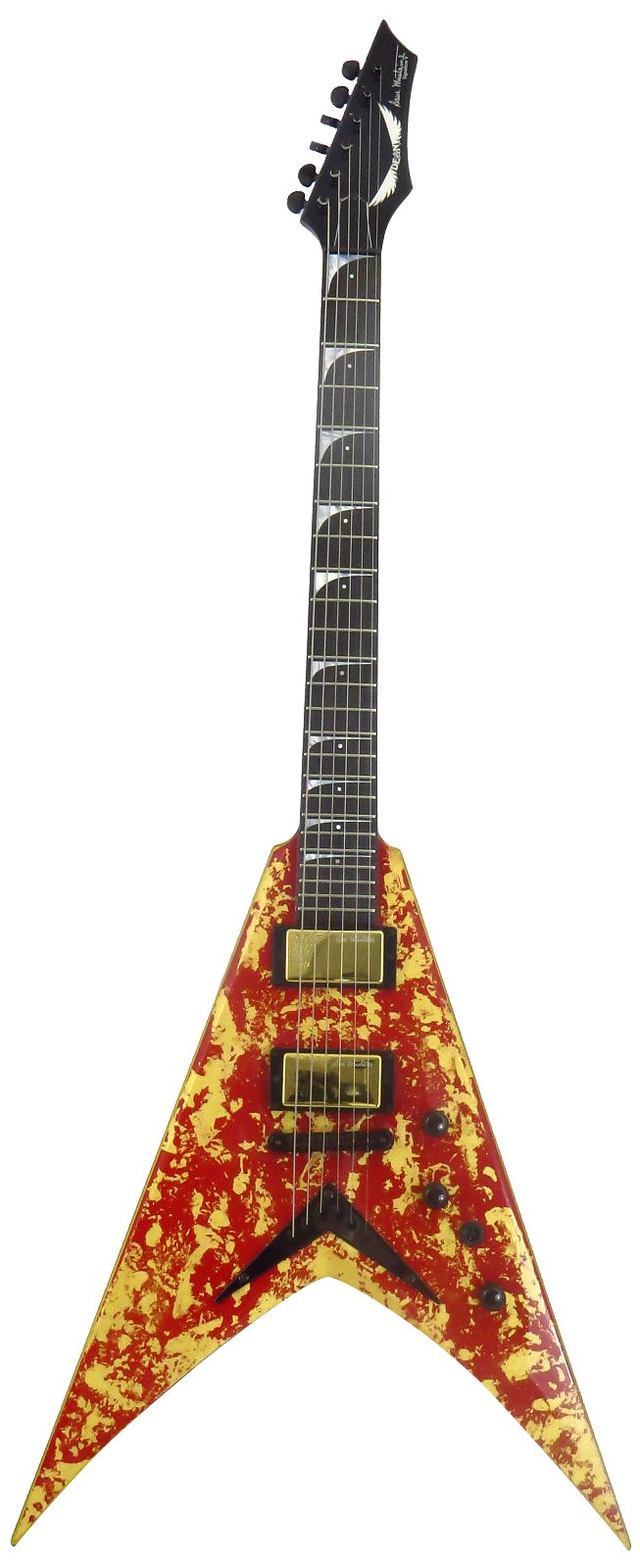Cheap Dean Guitars Dave Mustaine VMNT Holy Grail Limited Edition 33 Pc Solid-Body Electric Guitar Gold Leaf/Deep Red Black Friday & Cyber Monday 2019