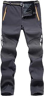7VSTOHS Pantaloni da Trekking Comodi da Uomo Pantaloni Caldi Antivento Pantaloni Casual da Arrampicata Inverno/Autunno/Pri...