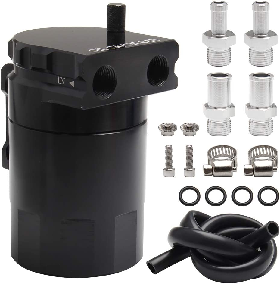 Top10 Racing Oil Catch Can Dallas Large special price !! Mall Aluminu Polish Reservoir Tank Baffled