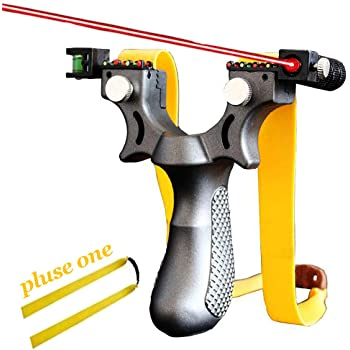 Powerful Alloy Handle Sling Shot Catapult Stainless Steel Hunting Slingshot New