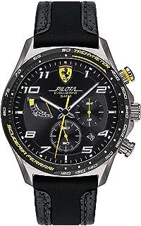 Scuderia Ferrari Quartz Montre avec Bracelet en Cuir 830718