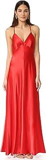 Jill Jill Stuart Women's Deep V Silk Slip Dress