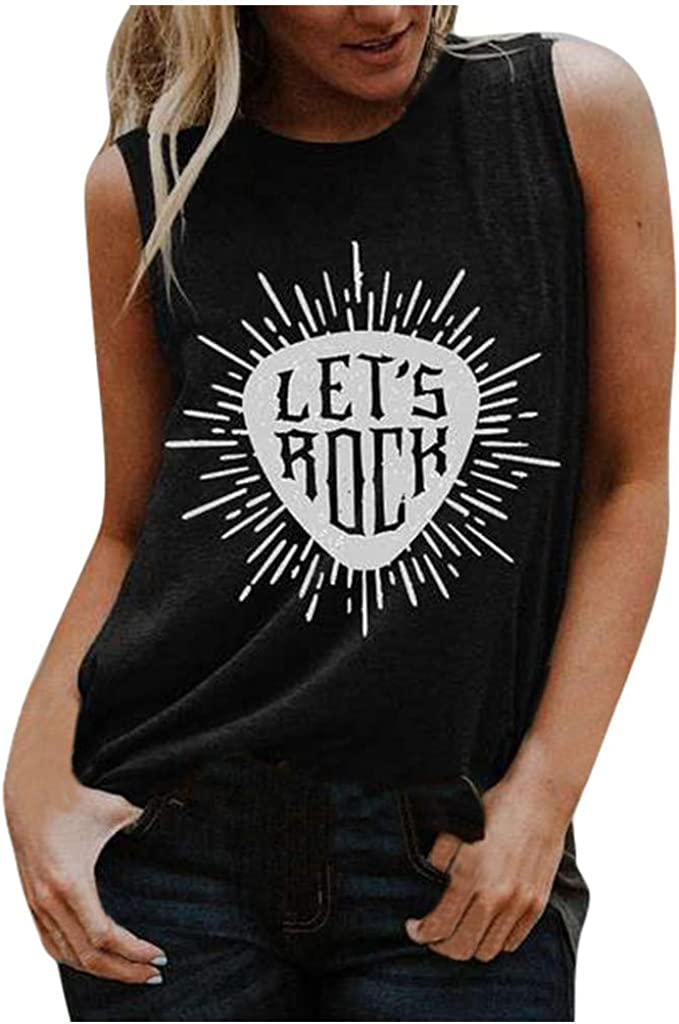 AODONG Tops for Women, Womens Casual Summer Tank Tops Loose Fit Sleeveless Workout Shirts Blouses Tunics Vest