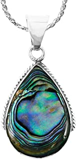 Turquoise Necklace Pendant 925 Sterling Silver Genuine...