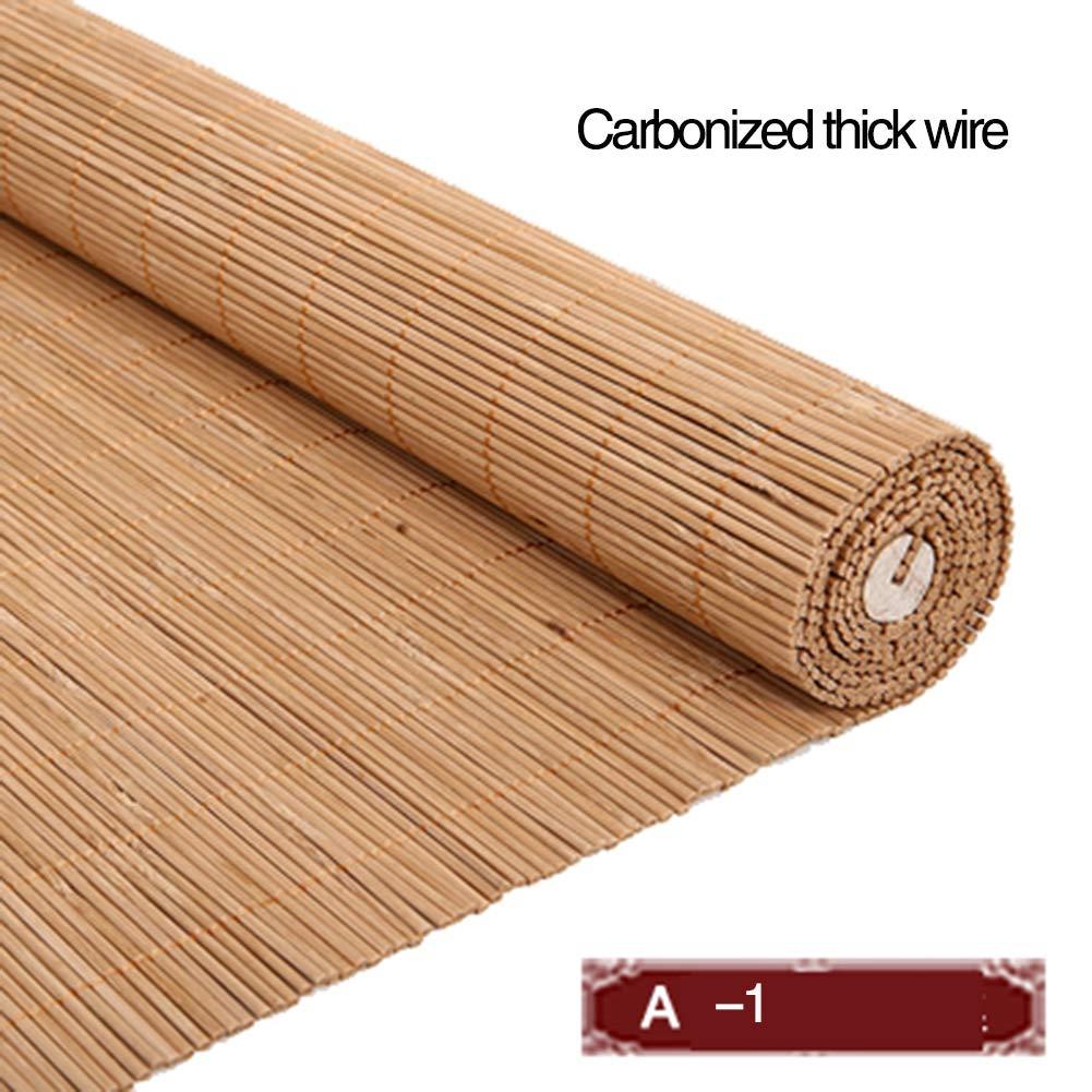 JZL - Estor de bambú para interior / exterior, elevar cortinas de ventana, patio / pabellón / pérgola / garaje, protección