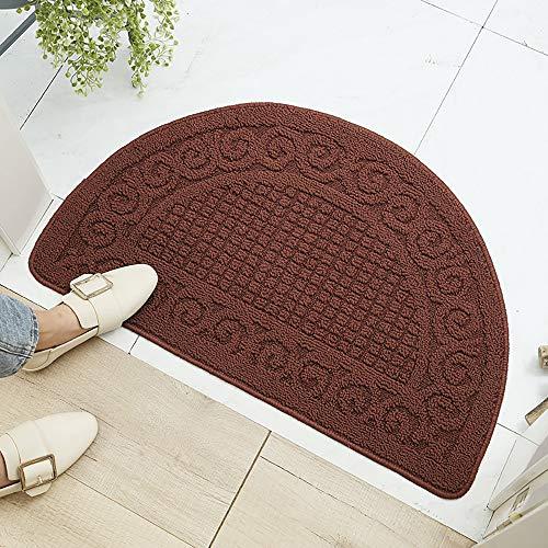 V-HANVER TPR Semicircular Antideslizante Felpudo, Entrada Doormats, Impermeable Alfombra, Decorativo Dormitorio, Resistente Mats, Absorbente Alfombrilla 40X63CM
