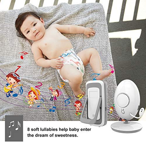 ANNEW Babyphone Baby Monitor mit Kamera Video Audio Temperatursensor Nachtsicht Wiegenlied Zwei-Wege-Gespräch (VB605-EU) - 6