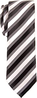 Retreez Retro Three-Color Striped Woven Microfiber Skinny Tie - Various Colors