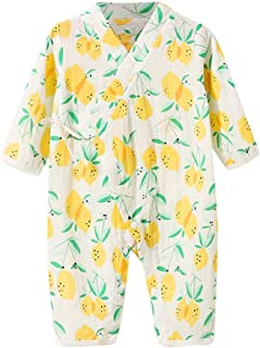 FWEIP Newborn Infant Baby Boy Girl Pajamas Yarn Robe Floral Kimono Romper Jumpsuit Fruit Cartoon Nightwear