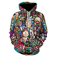 Rick and Morty 3D Print Sudaderas Y Sudaderas para Hombre Funny Ricky Y Morty Hip Hop Chaqueta con Capucha Hombres Chándal Anime Ropa-We-818_Asian_Size_L