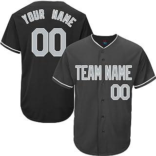 1c1f4bbec Black Custom Baseball Jersey for Men Women Kids Full Button Mesh  Embroidered Team Name   Numbers