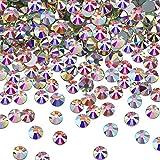 SS20 AB Crystal Diamond Rhinestones Flat Back Round Rhinestones Iridescent Crystals Round Beads Flat Back Glass (2000 Pieces)