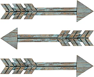 YXMYH Wood Arrows Decor, Blue Wood Arrow Sign Wall Decor – Decorative Farmhouse..