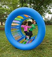Kids climb inside, roll it from the outside, or move along by walking - like a human hampster wheel Transparent, bright rainbow colors make it easy to see where you are going 2017 Creative Child Award Winner - voted best product of the year Not desig...