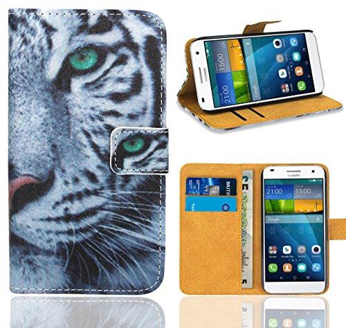 FoneExpert® Huawei Ascend G7 Handy Tasche, Wallet Hülle Flip Cover Hüllen Etui Ledertasche Lederhülle Premium Schutzhülle für Huawei Ascend G7 (Pattern 6)