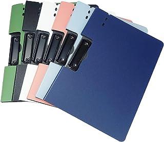 クリップボードファイル バインダー 資料 収納 保管 書類入れ A4サイズ オフィス 事務用品 (6色 横型)