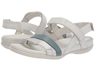 ECCO Flash Ankle Strap Sandal (Alu Silver/Trooper/Shadow White) Women