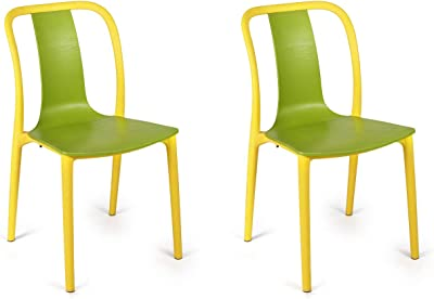 Cello Cheer Chair Set Pack of 2 - Green, Yellow