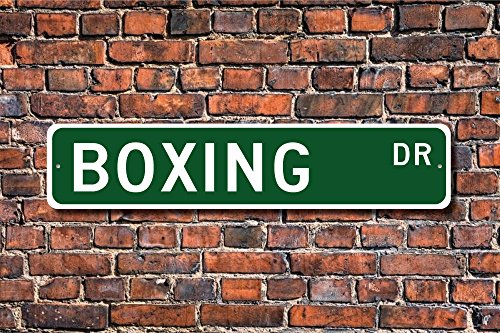 CELYCASY - Cartel de boxeo con texto en inglés'Boxing Boxing', ideal como regalo