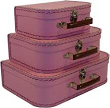 cargo Vintage Travelers Mini Suitcases, Set of 3, Pink Blush