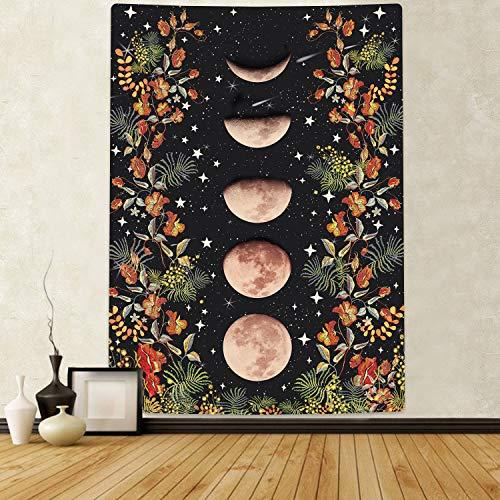 Sunm Boutique Tapiz de pared Moonlit Garden con fase de luna