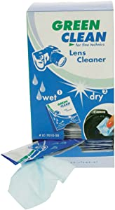Green Clean Wet and Dry Lens Cleaner  Pack 100 ...