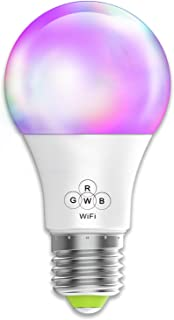 Smart WiFi Light Bulb No Hub Required, Magic Hue A19 E26 (40w Equivalent) Multicolored Dimmable LED Bulb, Compatible with Alexa Google Home Siri IFTTT
