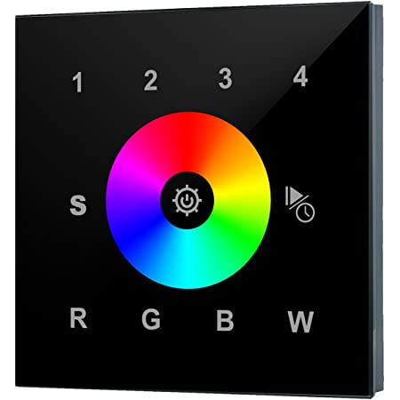 RGB RGBW Einfarbiger LED RF Funk Dimmer DC12V-24V mit 4 Zonen Fernbedienung