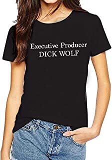 Adult Unisex Short Sleeve T-Shirt Printed with Executive Producer Dick Wolf-Design