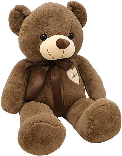 Teddyb 90cm     35,4 Kinder Weißem Plüsch Teddys Größes Größes Kind Spielzeug Puppen (Farbe   Brown)