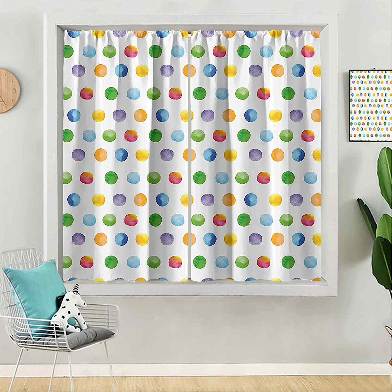Nashville-Davidson Mall Blackout Curtain Year-end gift 63 inches Long for Panel Kids Window B