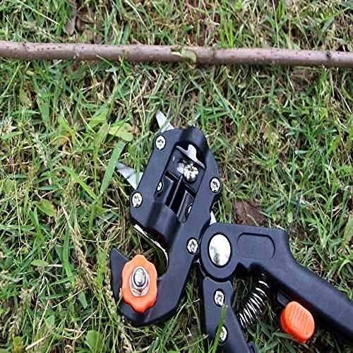 Hgjhy Couteau de greffe de semis Machine de greffe Dispositif de greffe Couteau de greffe de Bourgeon Multifonction Ciseaux de Jardinage cisaille d'élagage d'arbre fruitier artefact-Noir (3 Lames)