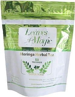 Moringa Tea-50 Tea Bags-Organic African Superfood Tea-100% Pure Healthy Tea- Natural Flavors-No Additives-Sugar-Free-VERY ...