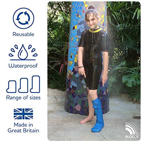 Bloccs Protector de escayola impermeable media pierna grande para niño de 10 a 14 años
